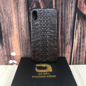 Ốp Lưng Cá Sấu IPHONE X ( Nâu Đất)