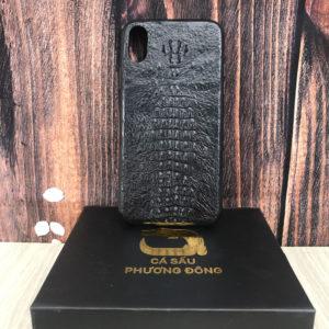 Ốp Lưng Cá Sấu IPHONE X ( Đen)