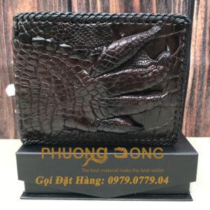 Ví Cá Sấu Tay (2 mặt - May Viền - Mã: 749)