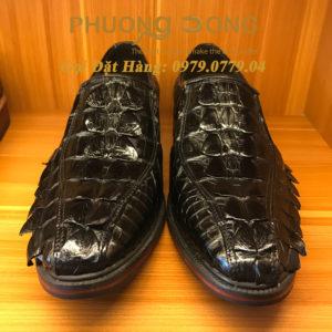 Giày Da Cá Sấu Đuôi (Màu Đen)