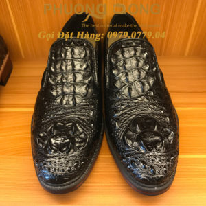 Giày Da Cá Sấu Gù (Màu Đen)