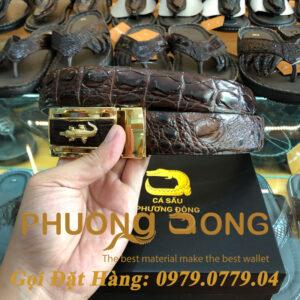 Thắt Lưng Cá Sấu Liền 3.5cm (Mã: L0021)