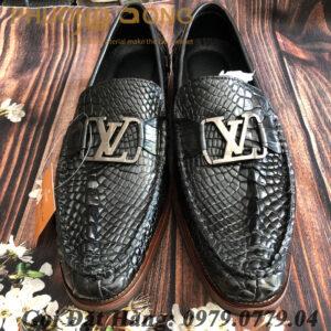 Giày Lười Cá Sấu Da Chân (LV)