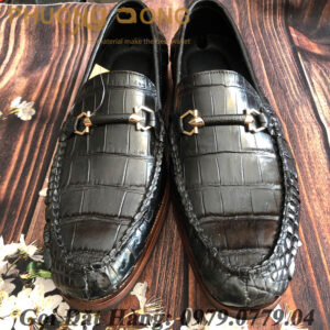 Giày Lười Cá Sấu Da Chân (I2)