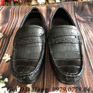 Giày Lười Da Cá Sấu Bụng