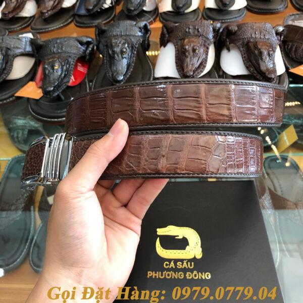 Thắt Lưng Cá Sấu Liền 4cm Đặc Biệt (Mã: 9066)