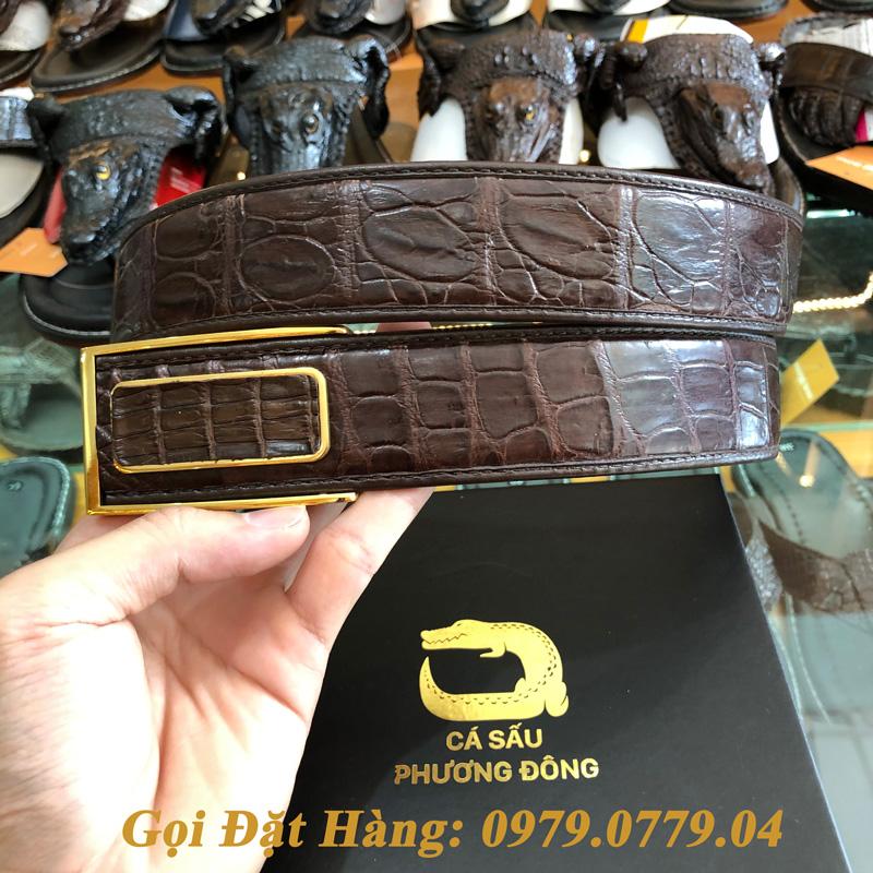 Thắt Lưng Cá Sấu Liền 4cm Đặc Biệt (Mã: 9070)