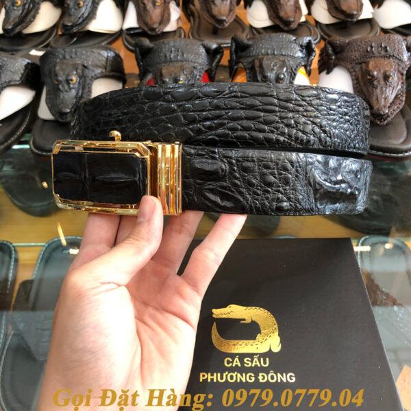 Thắt Lưng Cá Sấu Liền 4cm (Mã: 9084)
