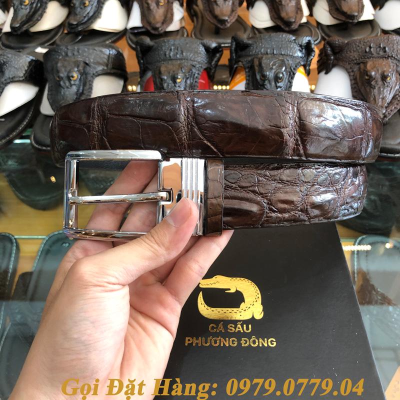 Thắt Lưng Cá Sấu Liền 4cm (Mã: 9088)