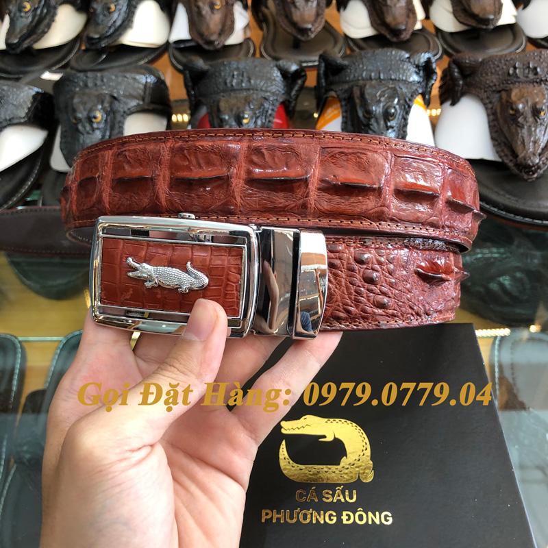 Thắt Lưng Cá Sấu Liền 4cm Đặc Biệt (Mã: 9090)
