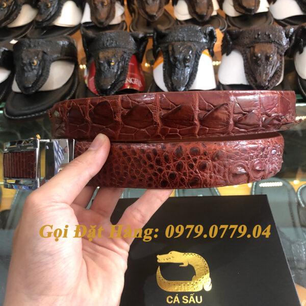 Thắt Lưng Cá Sấu Liền 3.5cm (Mã: L0046)