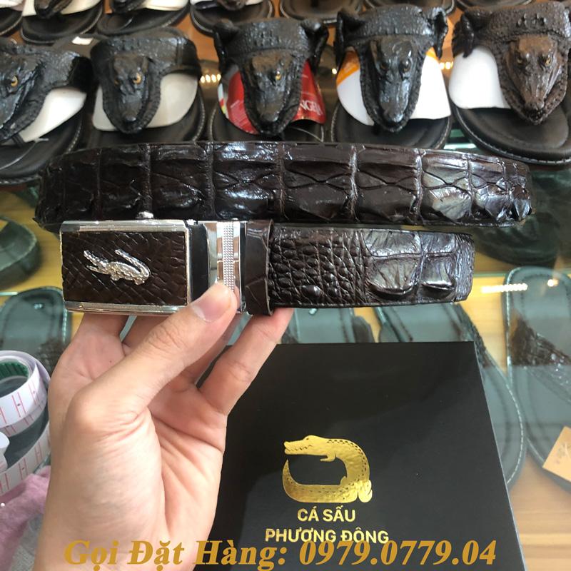 Thắt Lưng Cá Sấu Liền 3.5cm (Mã: L0051)