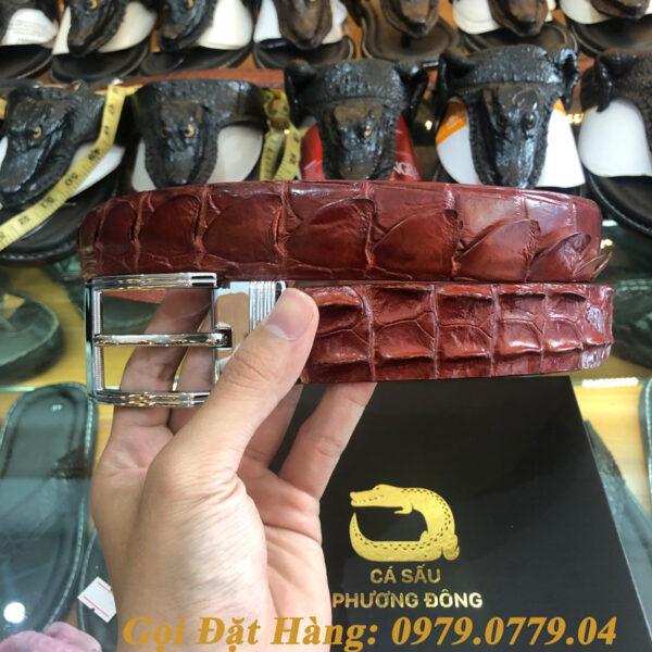 Thắt Lưng Cá Sấu Liền 3.5cm (Mã: L0052)