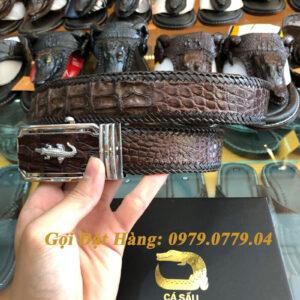 Thắt Lưng Cá Sấu Nối 4cm (Đan Viền - Mã: N738)