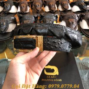 Thắt Lưng Cá Sấu Nối 4cm (Đan Viền - Mã: N741)
