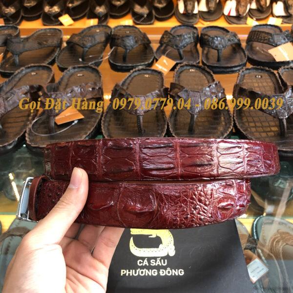 Thắt Lưng Cá Sấu Liền 3.5cm (Mã: L0071)