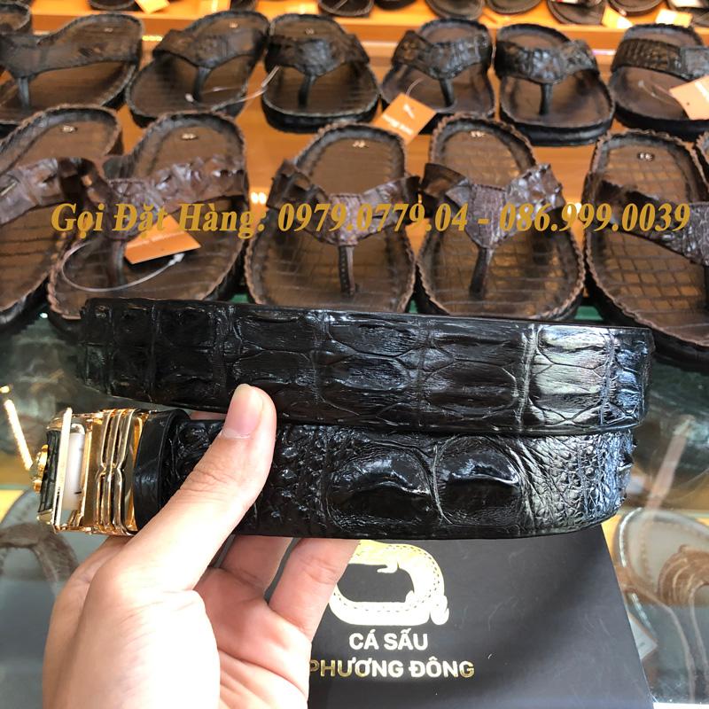 Thắt Lưng Cá Sấu Liền 3.5cm (Mã: L0072)
