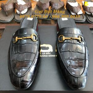 Giày Lười SaBo Da Cá Sấu (Đen)(Size: 40)