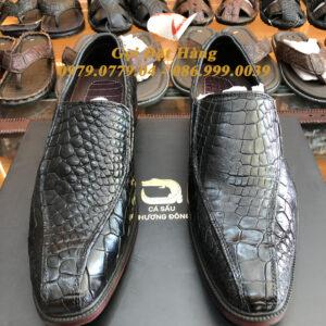 Giày Tây Da Chân Cá Sấu (Đen)(Size:41)