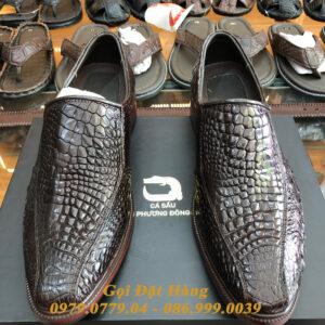 Giày Tây Da Chân Cá Sấu (Nâu Đất)(Size:42)