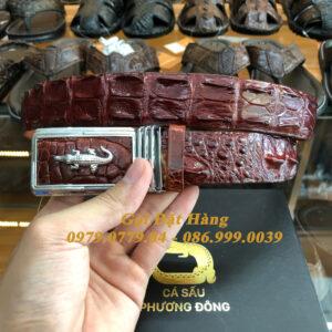 Thắt Lưng Cá Sấu Liền 3.5cm (Mã: L0074)