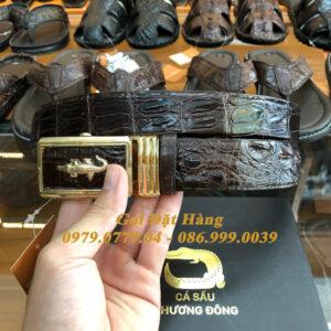 Thắt Lưng Cá Sấu Liền 3.5cm (Mã: L0075)
