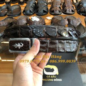 Thắt Lưng Cá Sấu Liền 3.5cm (Mã: L0076)
