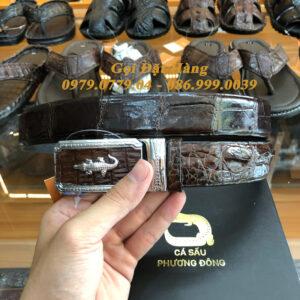 Thắt Lưng Cá Sấu Liền 3.5cm (Mã: L0077)