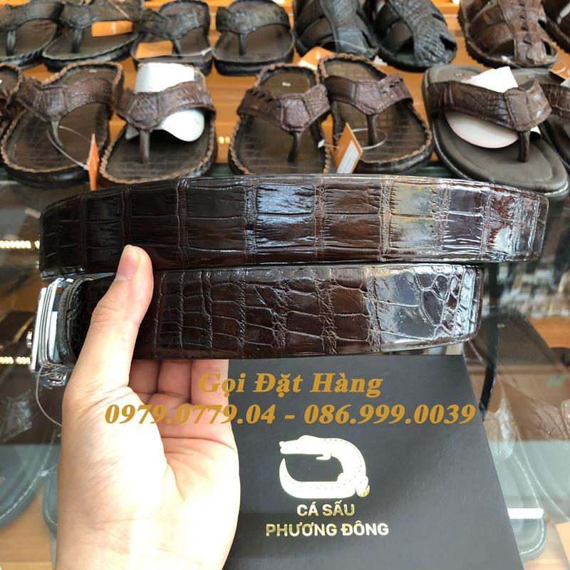 Thắt Lưng Cá Sấu Liền 4cm (Mã: 9139)