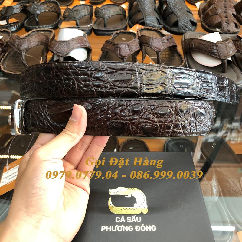 Thắt Lưng Cá Sấu Liền 4cm (Mã: 9142)