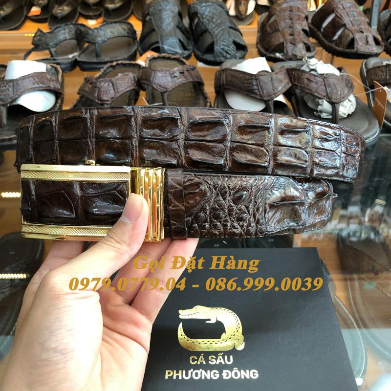Thắt Lưng Cá Sấu Liền 4cm (Mã: 9143)