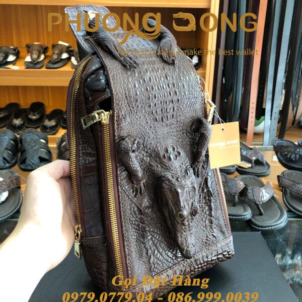 Túi Bao Tử Da Cá Sấu Có Đầu (Mã: C27)