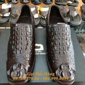 Giày Tây Cá Sấu Gù (Size:43) (Nâu Đất)