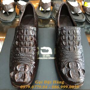 Giày Tây Cá Sấu Gù (Size:41) (Nâu Đất)