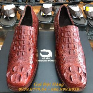 Giày Tây Cá Sấu Gù (Size:42) (Nâu Đỏ)