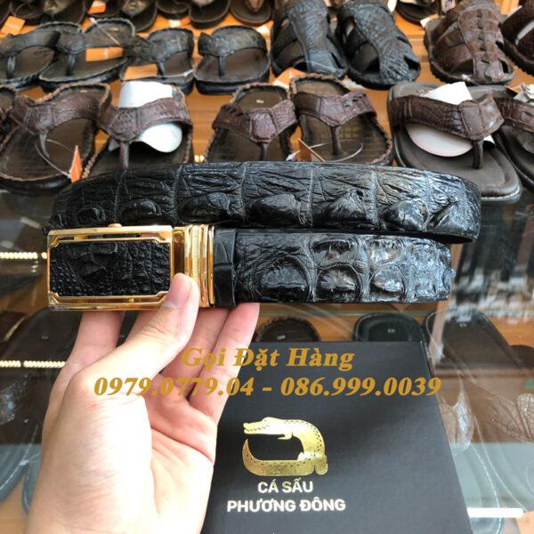 Thắt Lưng Cá Sấu Liền 3.5cm (Mã: L0084)