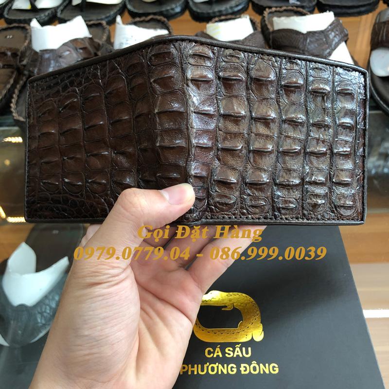 Ví Cá Sấu Gai Lưng (2 Mặt - Mã: 4049)
