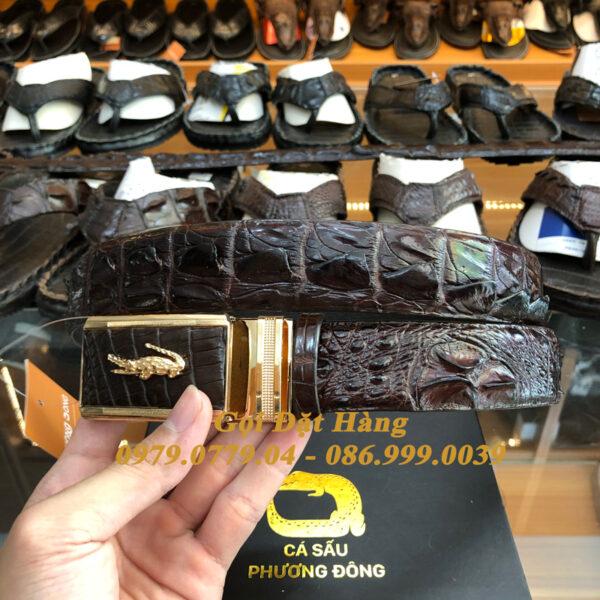 Thắt Lưng Cá Sấu Liền 3.5cm (Mã: L0099)