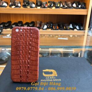 Ốp Lưng Cá Sấu IPHONE 6 (Nâu Đỏ)