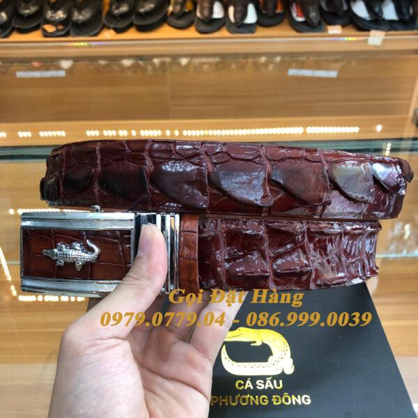 Thắt Lưng Cá Sấu Liền 4cm (Mã: 9186)