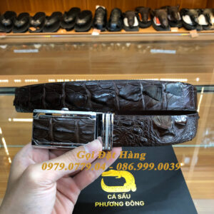 Thắt Lưng Cá Sấu Liền 3.5cm (Mã: L0107)