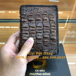 Ví Cá Sấu Gai Lưng (2 Mặt - Đan Viền - Mã: 4098)