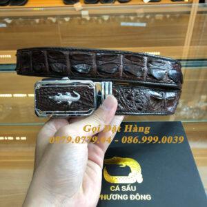 Thắt Lưng Cá Sấu Liền 3.5cm (Mã: L0125)