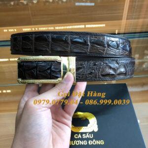 Thắt Lưng Cá Sấu Liền 3.5cm (Mã: L0130)