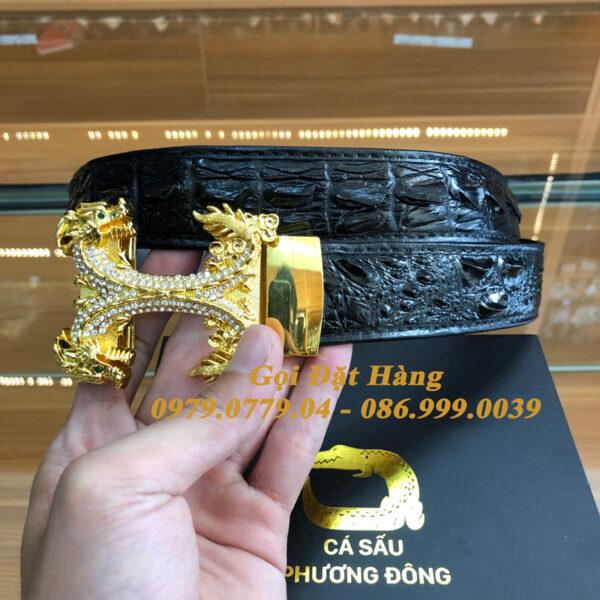 Thắt Lưng Cá Sấu Liền 3.5cm (Mã: L0144)