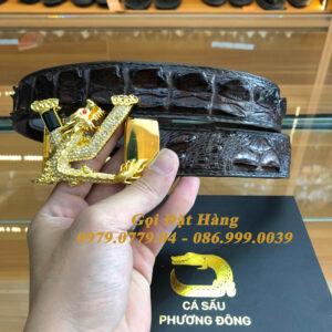 Thắt Lưng Cá Sấu Liền 3.5cm (Mã: L0146)