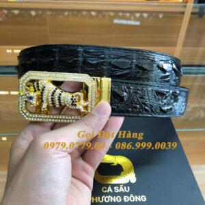 Thắt Lưng Cá Sấu Liền 3.5cm (Mã: L0148)