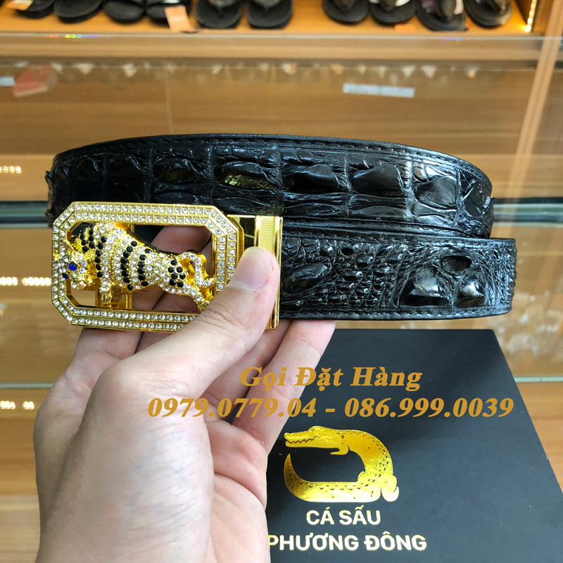 Thắt Lưng Cá Sấu Liền 3.5cm (Mã: L0149)
