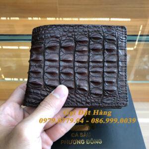 Ví Cá Sấu Gai Lưng (2 Mặt - Mã: 4132)