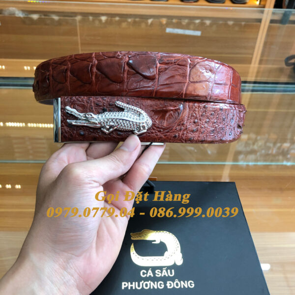 Thắt Lưng Cá Sấu Liền 4cm Đặc Biệt (Mã: 9268)